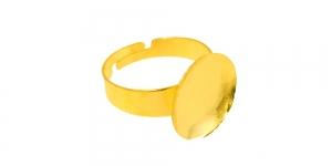 Sõrmusetoorik ümara plaadiga Kuldne / 15mm / EA111