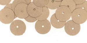 YB53 / Lamedad kettakujulised plastlitrid, siidja läikega hallikasbeezid / ø10mm
