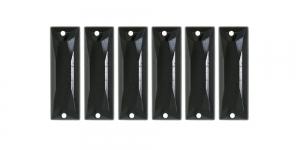 25x8mm Must piklik, õmmeldav plastikkristall WM17