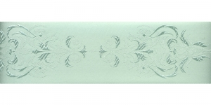 Luksuslik atlaspael sissekootud lillemustriga laiusega 64 mm, Art.64969, kahvatu heleroheline