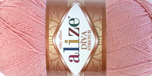 Diva Silk Effect Strech Yarn; Colour 363 (Lighter Pink), Alize