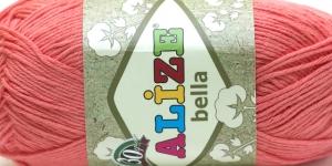 Puuvillane lõng Bella; Värv 619 (Virsikuroosa) / Alize