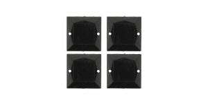 WM20 16mm Must, läbipaistmatu dekoraatiivkivi 4tk