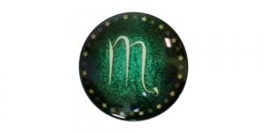 25mm Rohelisekirju dekoraatiivkivi, Skorpion/Scorpio, KM156-F