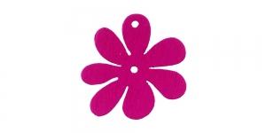 Lillekujuline tumeroosa puitdetail / Dark pink Flower Pendant / 25 x 2mm / IO158