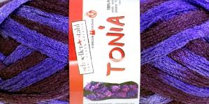 Krookiv lõng kreatiivseks kasutamiseks Tonia; Värv 0146 (Tonia Tume roosakaslilla, erklilla), Schoeller+Stahl