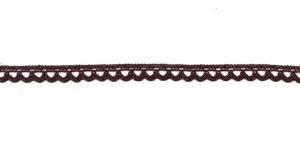 Puuvillane pits 3174-05 laiusega 0,8 cm, värv tumepruun