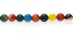 JN18 10,3mm Värvisegu piimjad ümarad ahhaathelmed 10tk