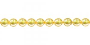 KK113A Ümarad klaaspärlid, Jablonex Tšehhi, 6mm Helekollane