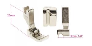 Kõrge kruvikinnitusega (tööstusliku õmblusmasina standard) paspuaalkanditald, 3 mm, renn vasakul, KL0851