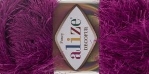 Karvane dekoratiivlõng Decofur, Alize, värv nr.621, punakaslilla