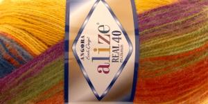 Mohäärlõng Alize Angora Real 40 Batik Design, värv 4895 kirju