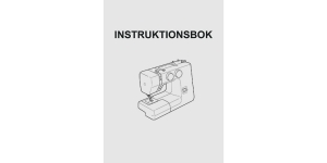 Manual Janome SWE (instruktionsbok) sold only with machine set