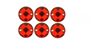 WM13 12mm Punane, läbipaistev dekoraatiivkivi, 6tk