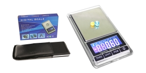 Täpne digitaalne taskukaal kaanega-kaalumiskausiga, 11,5 x 6,5 x 1,6 cm, kuni 300 g; -/+ 0,01 g, KL1701, TV11