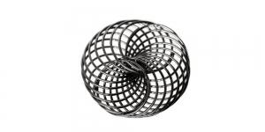Metallist põimingdetail Hematiit, Gunmetal Twisted Metal Spiral Charm, 22x21mm, EG6A