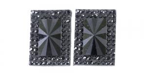 WD11 25x18mm Must, läbipaistmatu dekoraatiivkivi, 2tk
