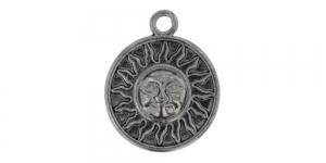 25mm Oksüdeeritud nikkel, ümar aasaga medaljon, EG238