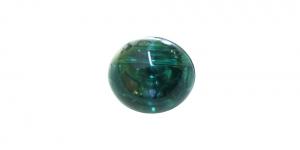 XC13 10mm Smaragdiroheline, läbipaistev, ümar akrüülnööp