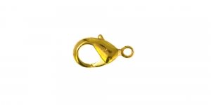 Karabiinhaak kuldne, Golden Jewellery Clasp, 10 mm, EE51