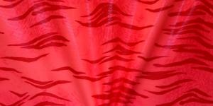 Neoonoranž, kirju mustriga trikookangas, 150cm