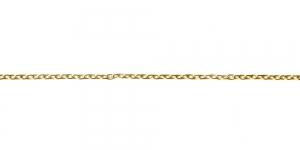 Kuldne alumiiniumkett, 4,7 x 3 x 0,8 mm, MA10
