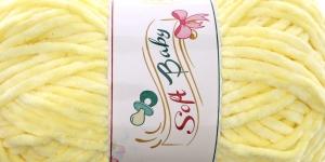 Sametlõng Soft Baby, Madame Tricote, Värv 503 Hele sidrunikollane