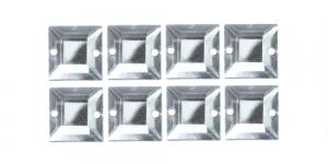 10mm Värvitu, läbipaistev kandiline akrüülkristall, 8tk WR46
