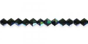 LP81A 5mm Must läbipaistmatu AB-kattega tahuline klaas (Jet AB)