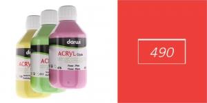 Akrüülvärv, läbipaistmatu, 250ml, Darwi Acryl Opaque, VERMILON 490