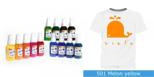 Spreivärvid kanga värvimiseks, Fabric Paint Spray, 50 ml, Vielo, Värv:melonikollane, #501 Melon yellow