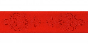 Jacquard koristenauha 38mm, Art.38969, väri punainen