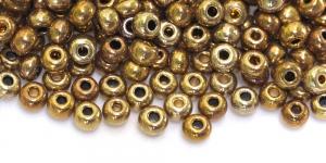 Terahelmed, seemnehelmed,Nr.4 (4.8-5.3 mm), Preciosa Kuldsed läbipaistmatud HG60