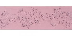 Jacquard satin ribbon, Art.64968, color No. Rose