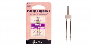 Twin ball point Needle, 4,0mm, Nr.80, Klasse, Hemline H111.40