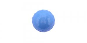 ø11 mm Heledam sinine, läikiva pinnaga kannaga nööp SV393