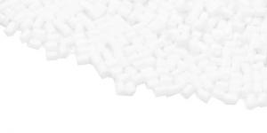 DN49 2,5-2,8mm Valge matt läbipaistmatu toruhelmes