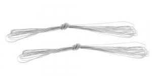 Neulekoneen aloituslanka, 3m, vahalanka valkoinen Ø0.8mm 2kpl