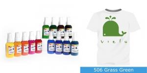 Spreivärvid kanga värvimiseks/ Fabric Paint Spray, 50 ml, Vielo, Värv: rohuroheline, #506 Grass Green