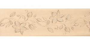 Jacquard satin ribbon, Art.64968, color No.Cappucino