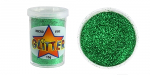 Glitter Powder Micro Fine Glitter, 15g, green, Trimits UF17