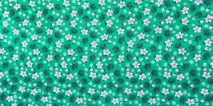 145cm Roheline, kirju lillemustriga, puuvillane kangas, KC2802-221