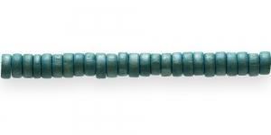 IM42 8x4mm Rohekas lakitud rõngakujuline puithelmes ca. 50tk kmpl