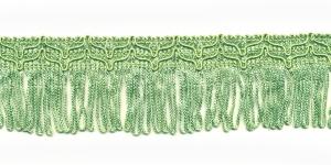 Lihtsad narmad pikkusega 5cm lainelise kaunistusservaga Heledam roheline
