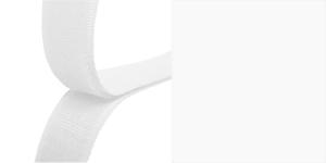 Õmmeldav takjapael, mõlemad pooled HOOK+LOOP, laius 20 mm, 25 cm, valge #00