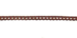 Puuvillane pits 3840-05 laiusega 1 cm, värv tumepruun