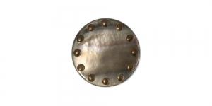 Tumepruun, pronksjate täppidega, kannaga plastiknööp, SV446/10067067-18-09