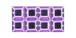 WH27 10mm Helelilla, läbipaistev kandiline akrüülkristall, 8tk
