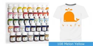 Värvid kanga värvimiseks pintsli, tampooni jms abil Vielo Fabric Paint, 50 ml, Värv: melonikollane, #108 Melon Yellow
