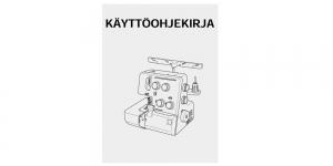 Kasutusjuhend / Käyttöohjekirja FIN Janome 990D (myydään vain konekaupan yhteydessa)